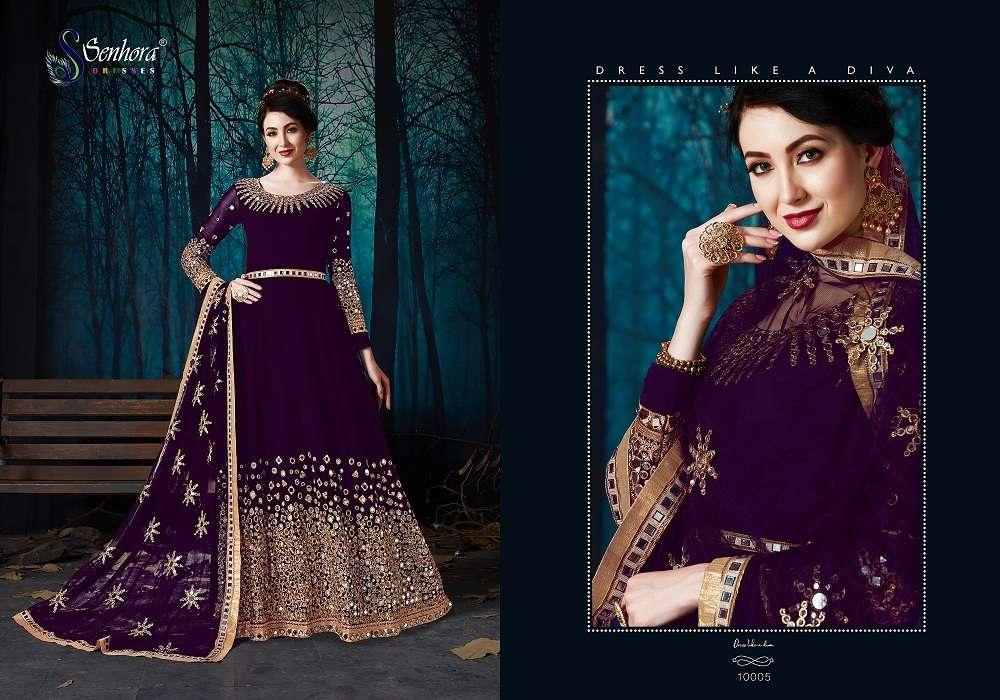 Rabaani Senhora Vol 10 10001 To 10004 Celebrity Style Dresses Designer Indian Women Traditional Fashion Faux Georgette Party Wear Salwar Kameez Dress Single Piece Wholesaler From Surat At Best Price